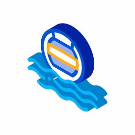 Water Volleyball Icon Vector. Isometric Water Volleyball Sign. Color Isolated Symbol Illustration