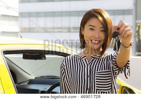 Lady With Car Keys