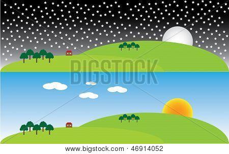 Vector Landcape Illustration