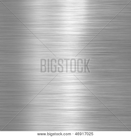 Alumínio escovado prato fundo ou textura