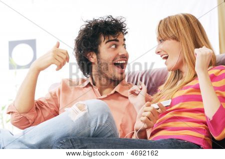 Couple And Music