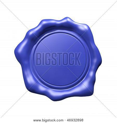 Blue Wax Seal - Isolated (Blank)