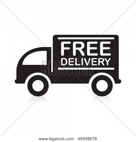Truck with �Free Delivery� sign.