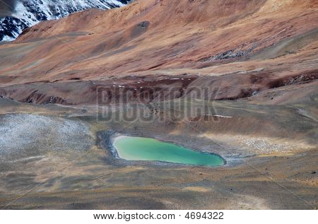 Turquoise Alpine Lake