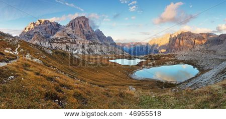 Nice Mountain With Lake - Italy Alps Dolomites - Tre Cime - Lago Dei Piani