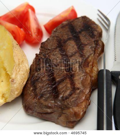 Broiled New York Steak And Veg