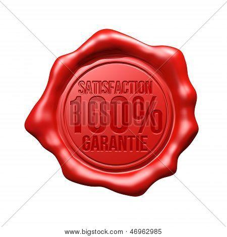 Red Wax Seal - Satisfaction 100% Garantie