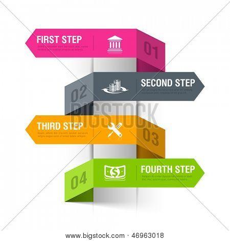 Abstract bank theme infographics template. Vector.