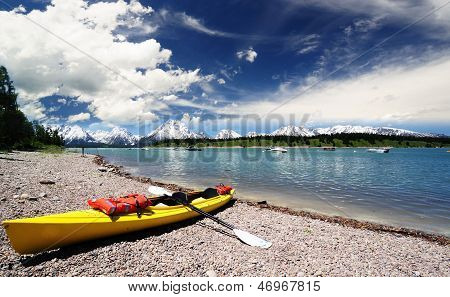 A view of Jackson Lake