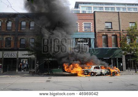 Burning Car.