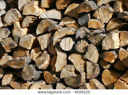 Big Stack Of Firewood