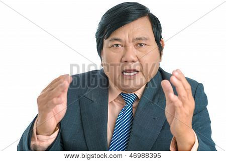 Arguing Businessman