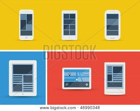 Vector Mobile Devices Set