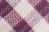 Woven multicolored textured picnic blanket patterned background poster