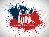 4th July, American Independence Day grungy background. poster