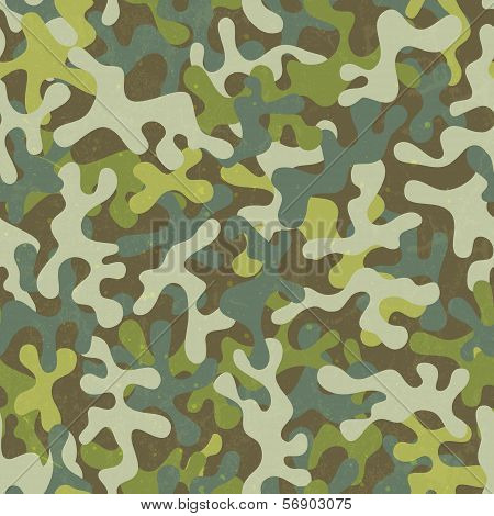 Camouflage seamless print. Abstract fabric pattern. EPS 10 vector illustration. poster