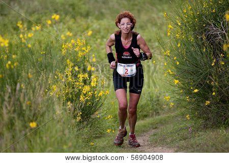 Portrait of a female runner