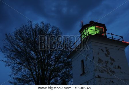 Goderich - Lighthouse at Night