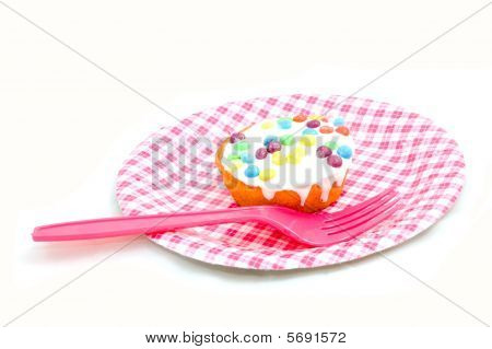 Birthday Cupcake Witch Candies On A Plate