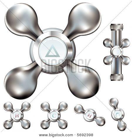 Water faucet handles