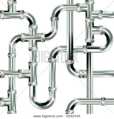 Seamless water pipe background