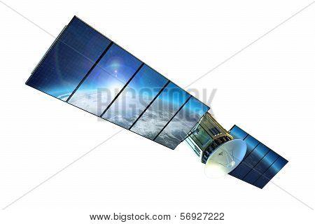 Satellite Isolated On White