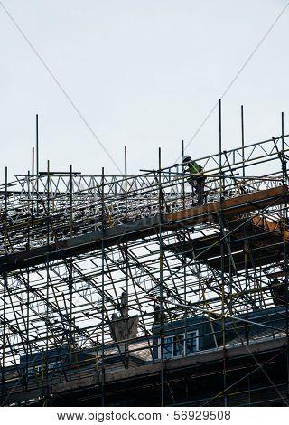 Worker On Scaffolding