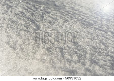 Sun Flare On A Snow Background Texture