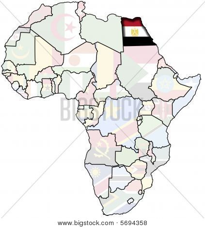 egipt on map of africa