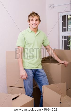 Man moving home