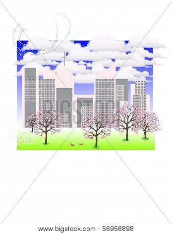 City in Spring