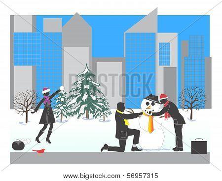 Corporate Snowman