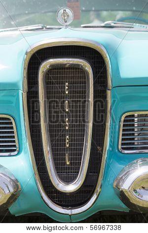 1958 Blue Edsel Citation Grill
