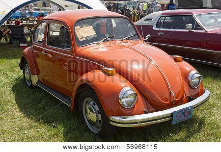 1971 Orange Vw Beetle