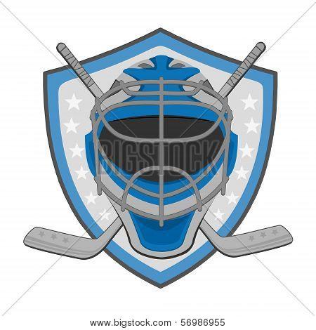Ice hockey labels, badges