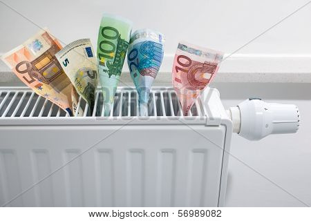 Heating Thermostat With Money