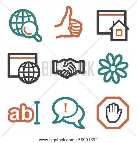 Internet web icons, contour series