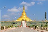 Uppatasanti pagoda in capital city  of Myanmar - Naypyidaw . poster