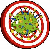 Target: kill the h1 n1 flu virus poster