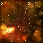 Elegant Christmas background with stars and shines poster