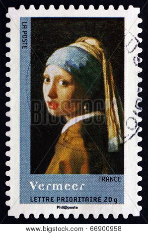 Postage Stamp France 2008 Girl With A Pearl Earring, By Vermeer