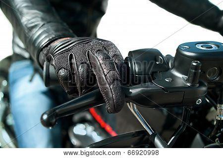 Hand Of Motorcyclist
