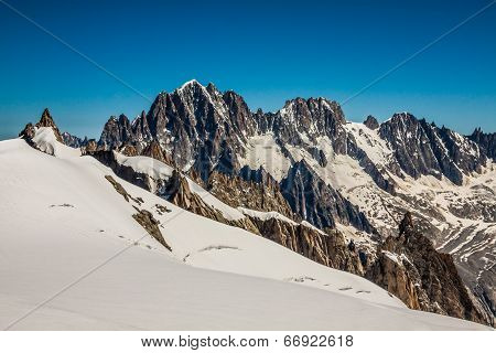 Mont Blanc Massif,in The Chamonix Mont Blanc