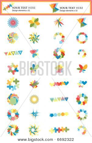 Set Of 32 Design Elements