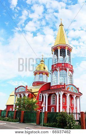 Belltower Of Church In Obolon District, Kyiv, Ukraine