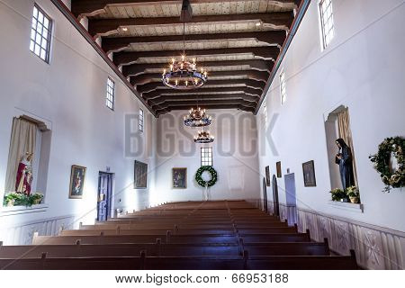 Mission San Luis Obispo De Tolosa California Basilica Wooden Pews