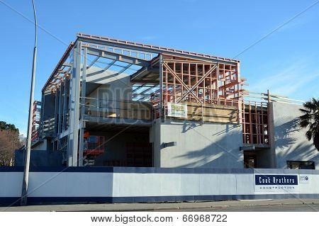 Christchurch Earthquake Rebuild - New Carlton Hotel Takes Shape.