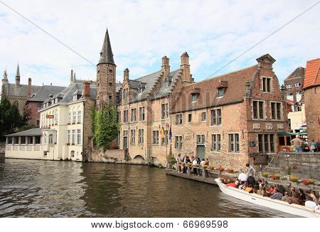Brugge canal and historical town, Belgium