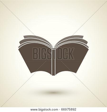 Retro Style Open Book Icon
