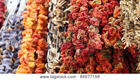 Dried Chillies in Istanbul